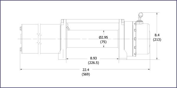размеры лебёдки RockWinch RS 10000 C